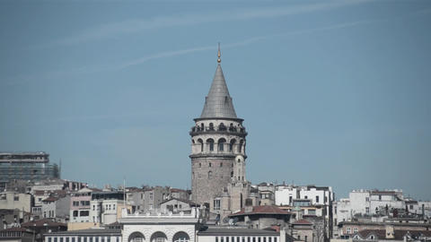 galata tower istanbul Turkey Footage