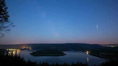 Milkyway Above Lake Timelapse Footage