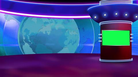 News TV Studio Set 259- Virtual Background Loop ライブ動画