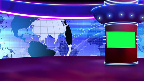 News TV Studio Set 258- Virtual Background Loop ライブ動画
