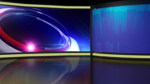 News TV Studio Set 260- Virtual Background Loop ライブ動画