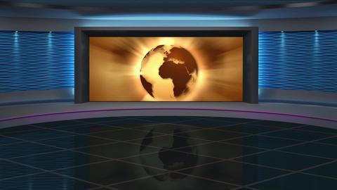 News TV Studio Set 266- Virtual Background Loop Live Action
