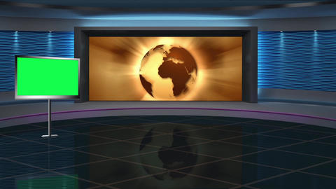 News TV Studio Set 267- Virtual Background Loop ライブ動画