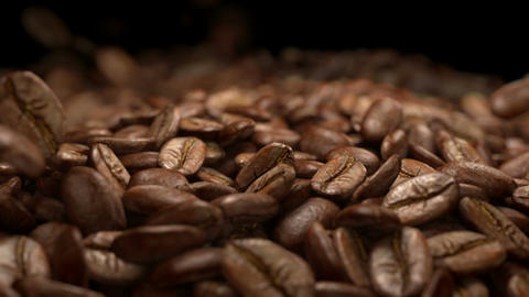 Video of falling coffee beans in real slow motion 1000fps Footage
