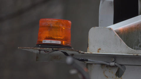 Flashing utility light on a work truck Footage