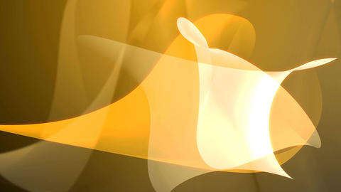Abstract yellow shapes in wavy motion CG動画素材