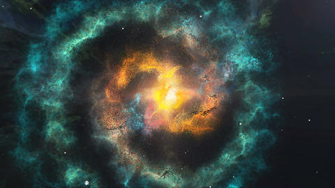 Abstract colorful nebula and starry sky in outer space Animation