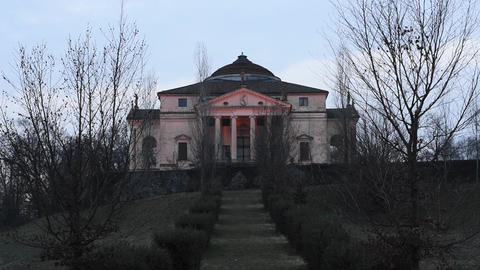 Villa Capra La Rotonda in Vicenza, Italy Footage