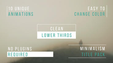 Clean Lower Thirds After Effects Template