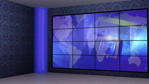 News TV Studio Set 269- Virtual Background Loop ライブ動画