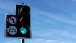 Closeup of UK traffic light Footage