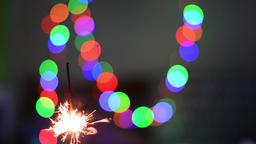 Sparklers on a black background Image