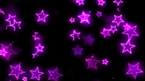 Drawing Star Shapes on Black Background Animation - Loop Violet Animation
