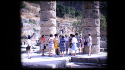 1972 - Greece Delphi tourists wander through the ruins of ancient Greek 29 Footage