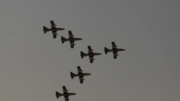 Aerobatic formation flypast Footage