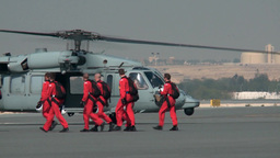 Leaving for their display, The Red Devils and Saudi Falcons Parachute Team Footage