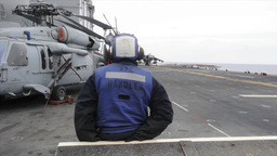 Harrier Takes Off from USS Bataan Footage