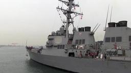 USS Fitzgerald Departs Yokosuka, Japan ビデオ