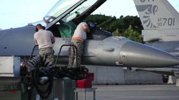 F-16 engineers, The Hawaii Air National Guards Sentry Aloha Team Footage