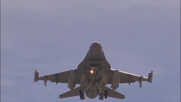 F-16 fighting falcon landing at Red Flag Footage