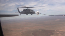 HH-60G Pave Hawk aerial refueling supports long range rescue mission Footage