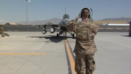 Arrival of the 100th Fighter Squadron F-16 Fighting Falcons at Bagram Airfield Footage