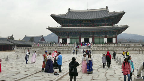 Geunjeongjeon Main Throne Hall Of Gyeongbokgung Palace Seoul Korea Asia Live Action