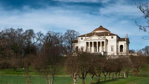 Villa Capra La Rotonda in Vicenza, Italy. Timelapse 4K Footage