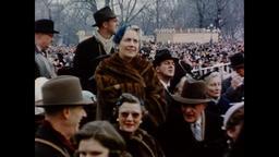 USA 1950s: Inauguration Day Crowd Shots, Washington D.C. Vintage Americana Footage