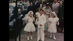 USA 1940s - 1950s: Children Attend Catholic First Communion - Vintage Footage