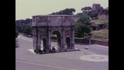 France 1960s: Paris Street and Arc de Triomphe Footage