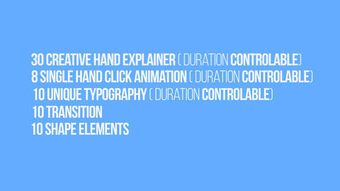 Hand Explainer Kit After Effects Template