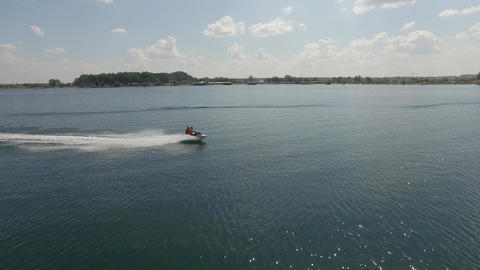 Riding on a Jet Ski Filmmaterial