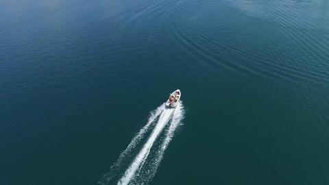 Motor Boat Aerial Filmmaterial
