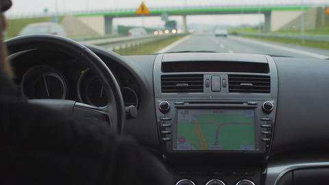 Car Navigation System Footage