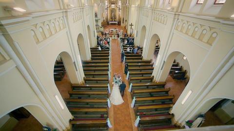 Wedding Couple Enter of Church Footage