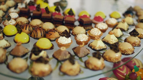 Delicious Cakes and Macaroon Footage