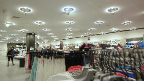 Camera Moves up and Show Glamor Store Panoramic View Footage