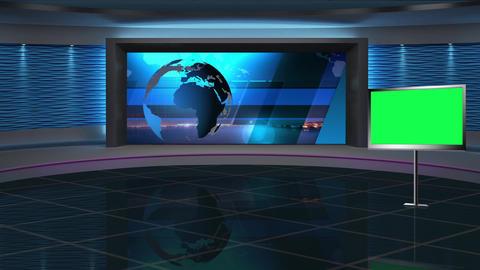 News TV Studio Set 286- Virtual Background Loop ライブ動画