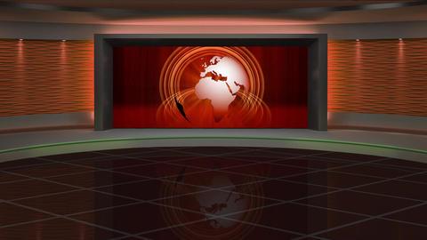 News TV Studio Set 287- Virtual Background Loop ライブ動画
