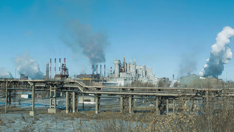 Factories and ecology. Air pollution Filmmaterial