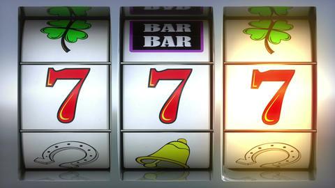 Slot Machine animation showing winning ビデオ