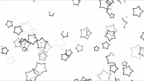 Drawing Star Shapes Background Animation - Loop Black and White Animation