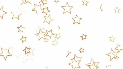 Drawing Star Shapes on White Background Animation - Loop Orange Animation