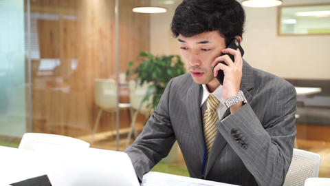 Business image (men · office · telephone) GIF