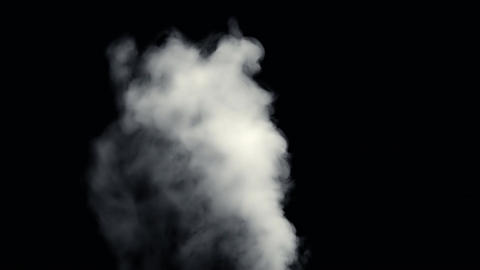 Fire Smoke from Black Background Image