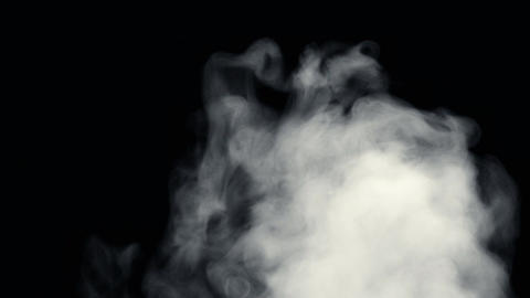 Fire Smoke from Bottom Up Black Background Live Action