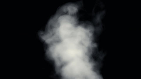 Fire Smoke from Bottom Up Black Background Footage