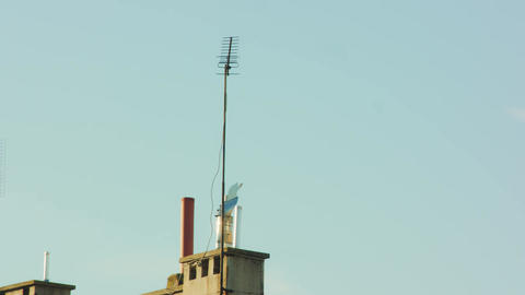 Modern chimney on the roof of house Footage