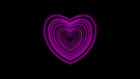 Pulsing Purple Heart With Alpha Channel Animation